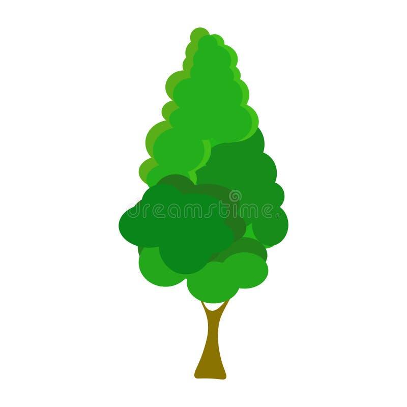 web De boom giet een schaduw, een plaats voor tekst, vector vector illustratie