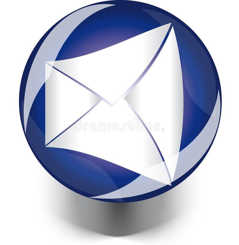 Web de bouton de courrier illustration stock