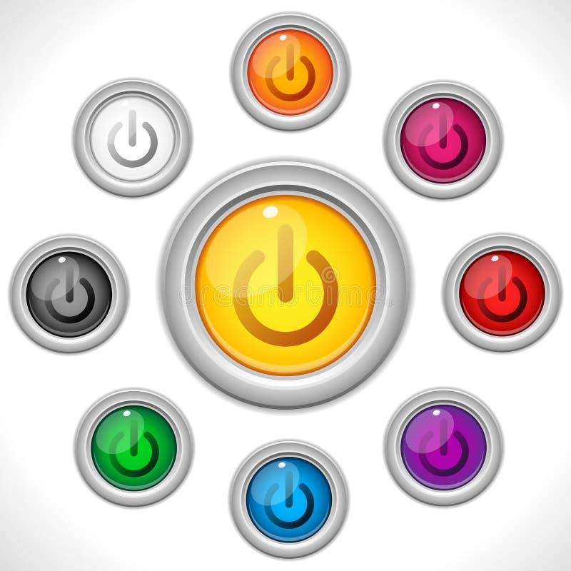 Web de couleurs de boutons illustration stock