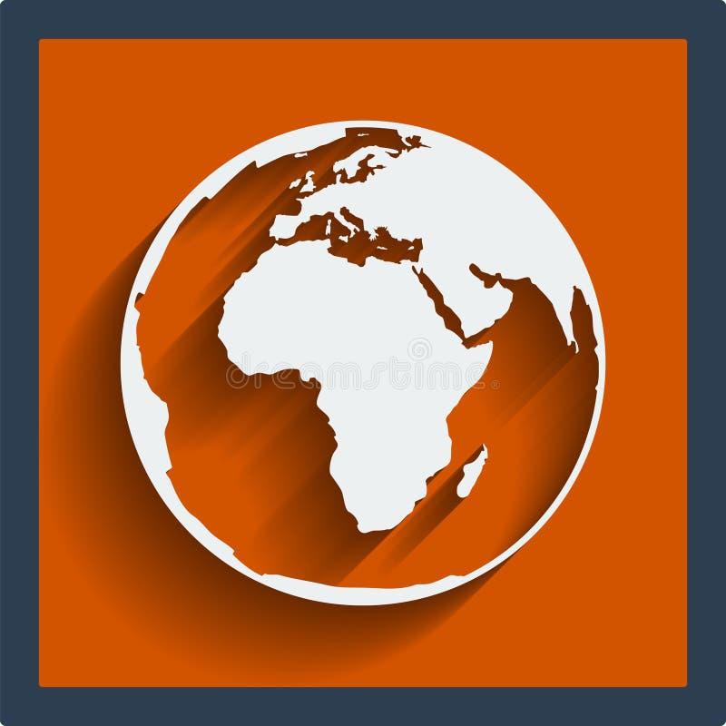 Web de globe de planète de la terre et icône mobile. Vecteur. illustration libre de droits