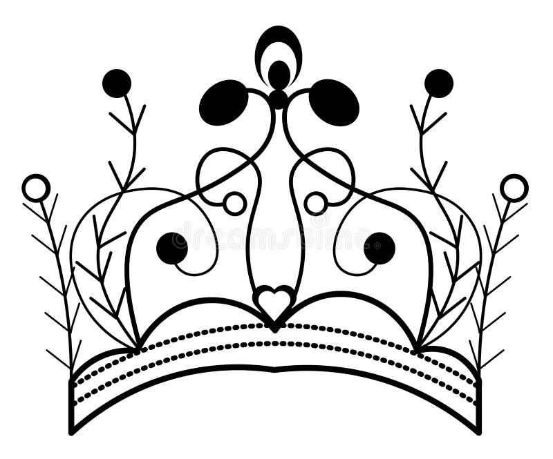 web De hand van koningscrown vector illustration op wit wordt getrokken dat vector illustratie