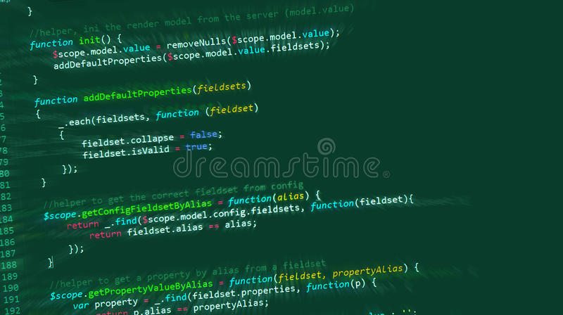 Web de HTML de code informatique d'Internet illustration stock