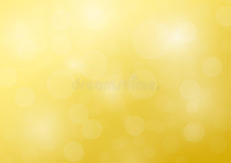Web de la bandera del fondo de la burbuja del oro stock de ilustración