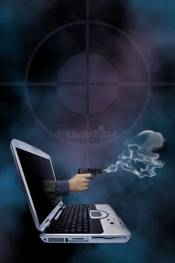 Web de roman de crime illustration de vecteur