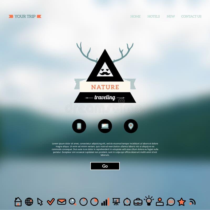 Web de vecteur et fond mobile d'interface illustration de vecteur