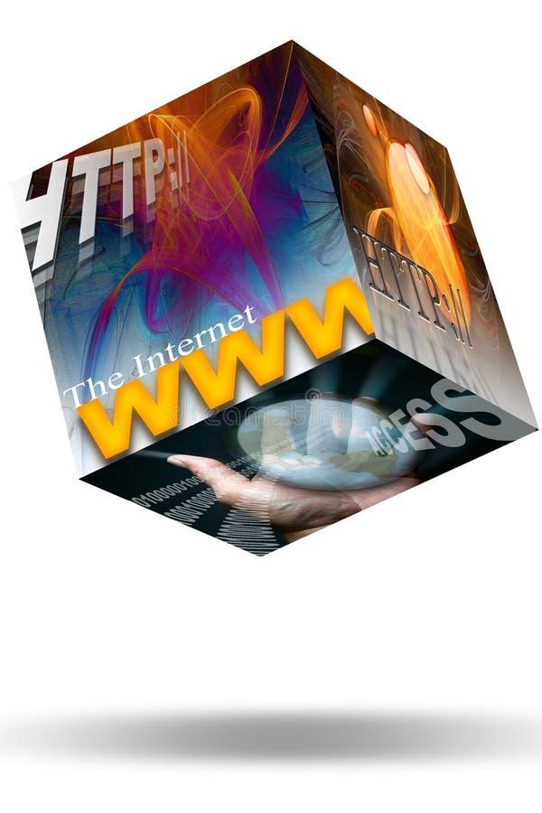 Web de WWW do Internet ilustração stock
