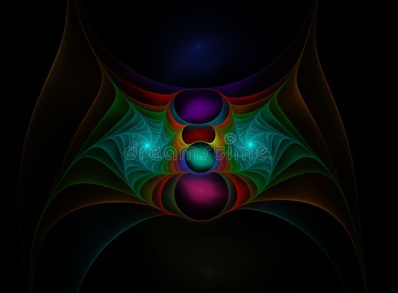 Web del fractal del color libre illustration