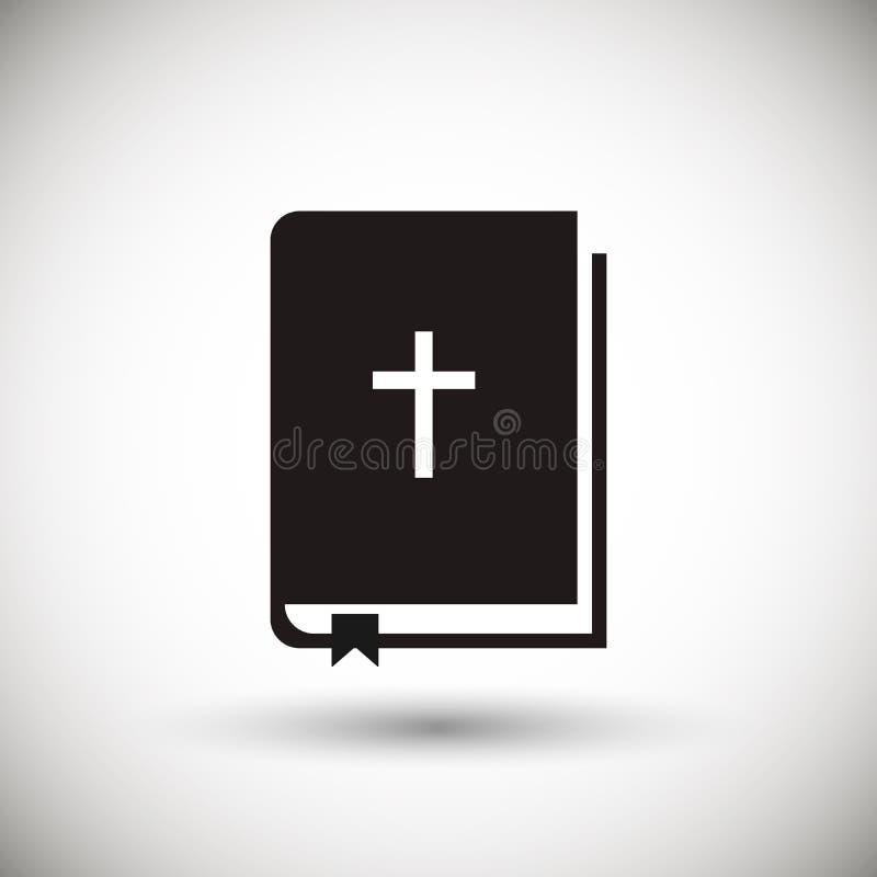 Web del icono de la biblia ilustración del vector