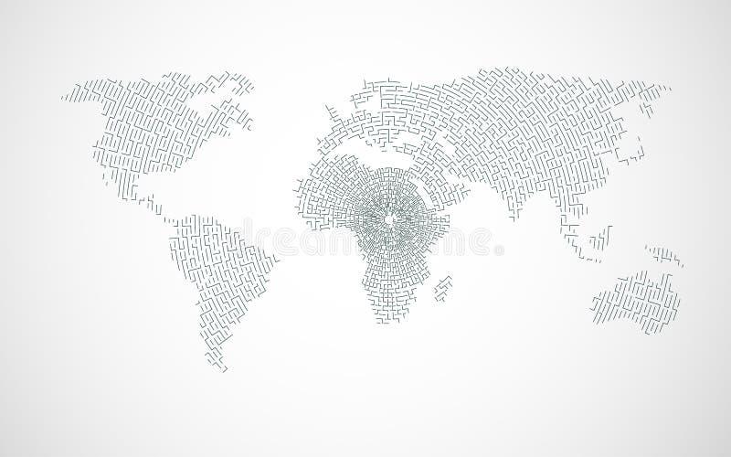 Web del mundo ilustración del vector