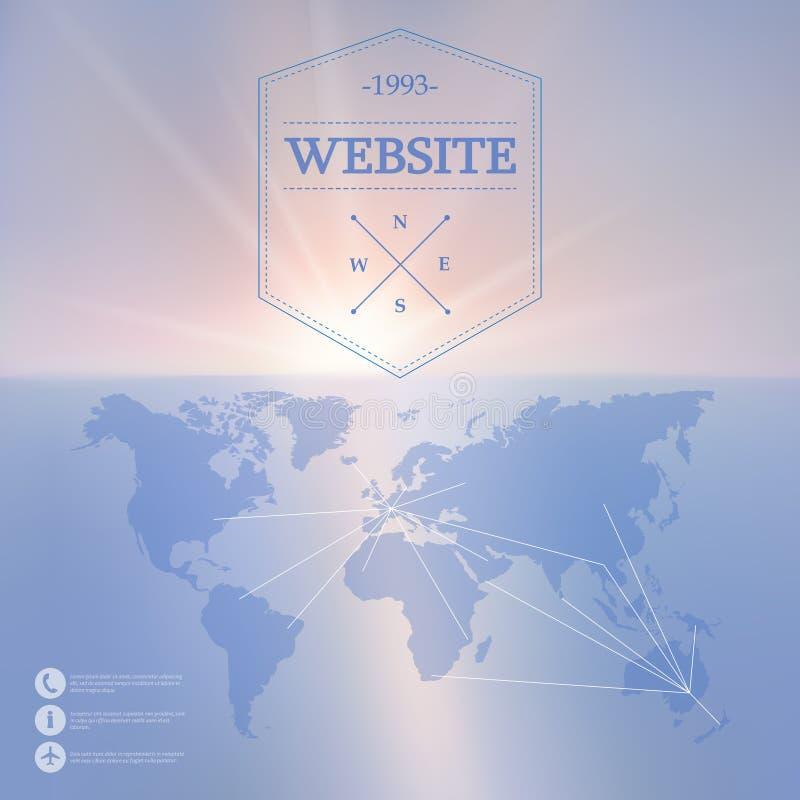 Web del vector y fondo móvil del interfaz libre illustration