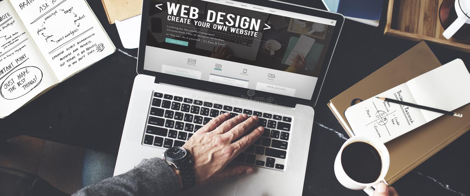 Web Desegn Ideas Creativity Internet Online Multimedia Concept stock photo
