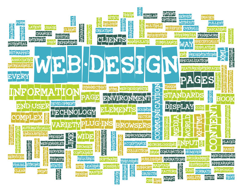 Web Design. Process for a Website Graphic Designer vector illustration