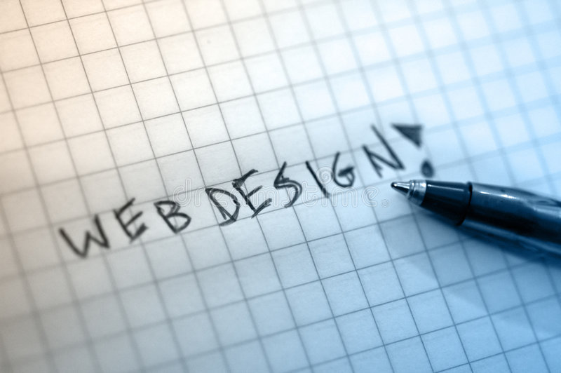 Web design. Write by hand