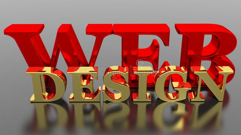Web Design illustration stock