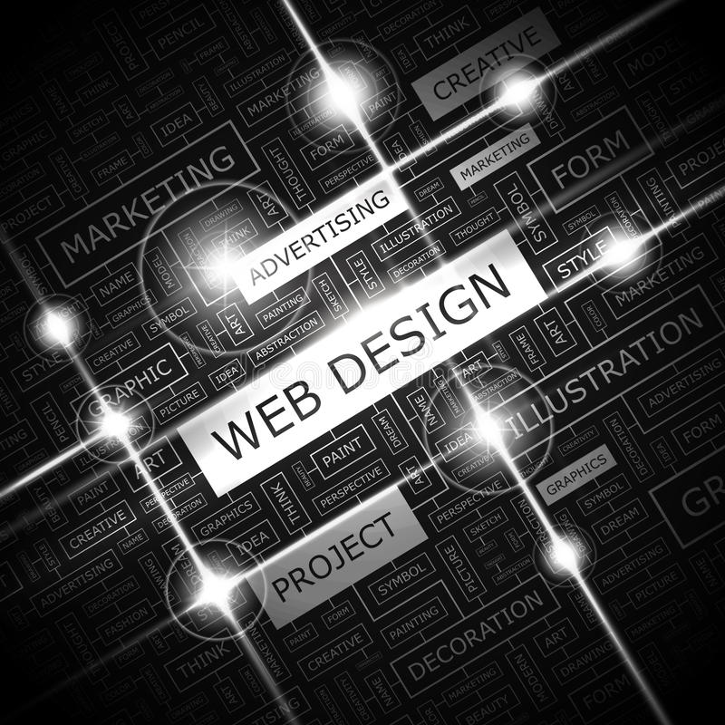 WEB DESIGN illustrazione vettoriale
