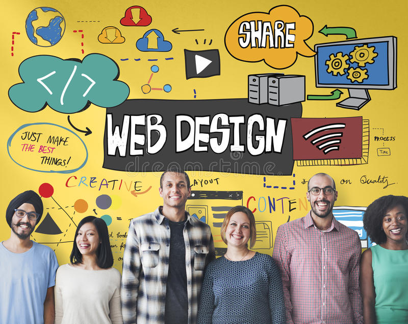 Web Design Blogging Layout Database Information Concept royalty free stock images