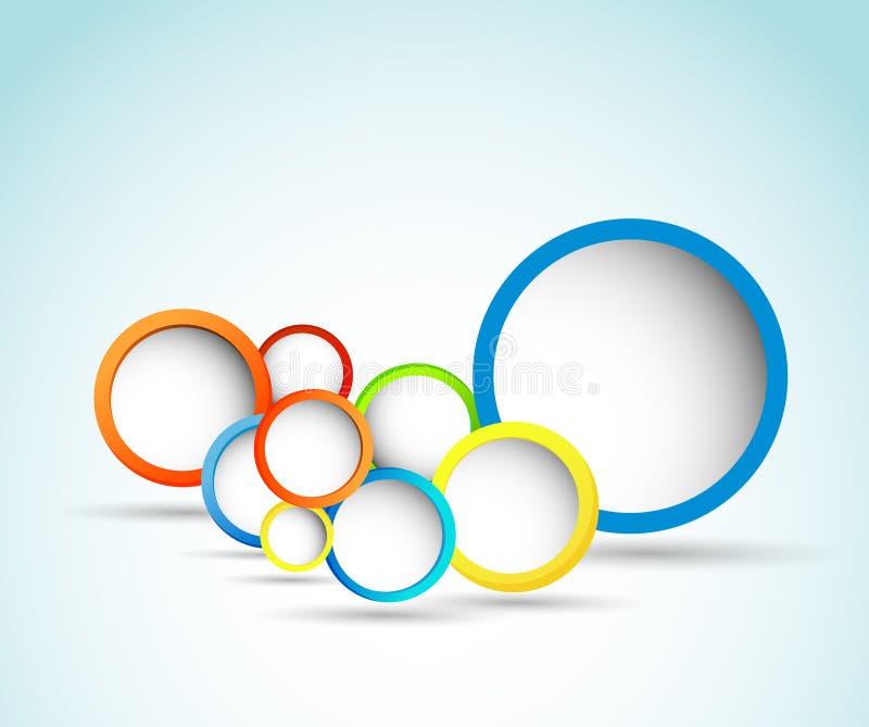 Web design circle bubble royalty free illustration