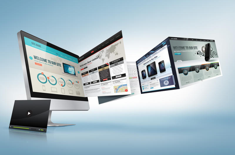 Web design concept. For presentation, banner, ad, advertising