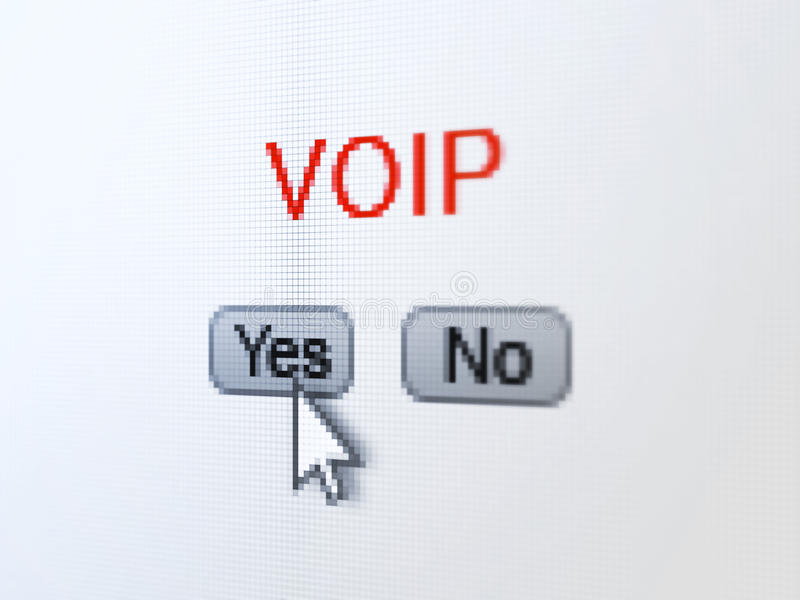 Download Web Design Concept: VOIP On Digital Computer Stock Photos - Image: 38287693