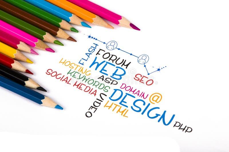 Web design. Concept on white background