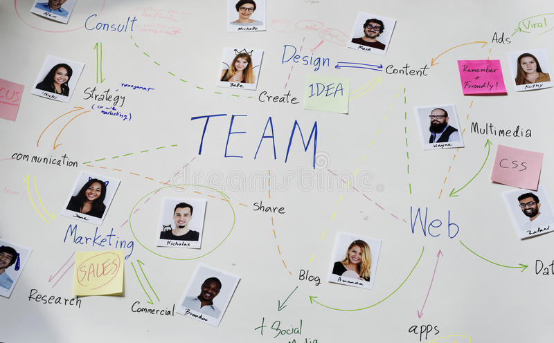 Web Design Content Team Member Colleagues Planning stock image