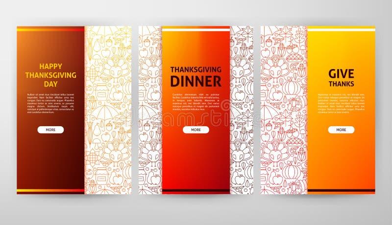 Web design de brochure de jour de thanksgiving illustration libre de droits