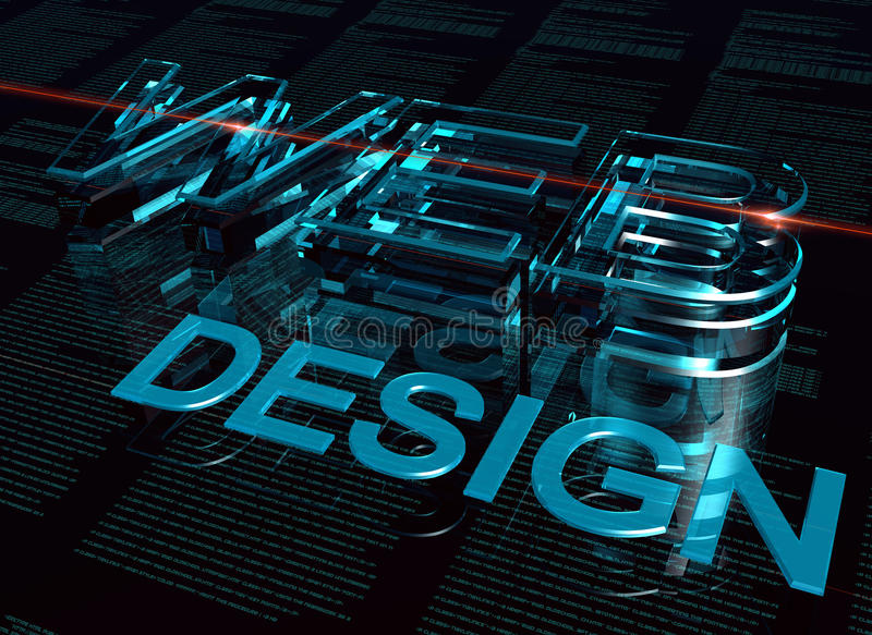 web design de l'inscription 3d illustration stock