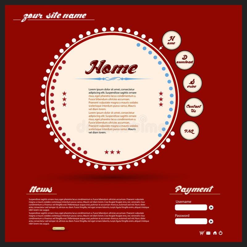 Web Design Dell Annata Fotografia Stock Libera da Diritti