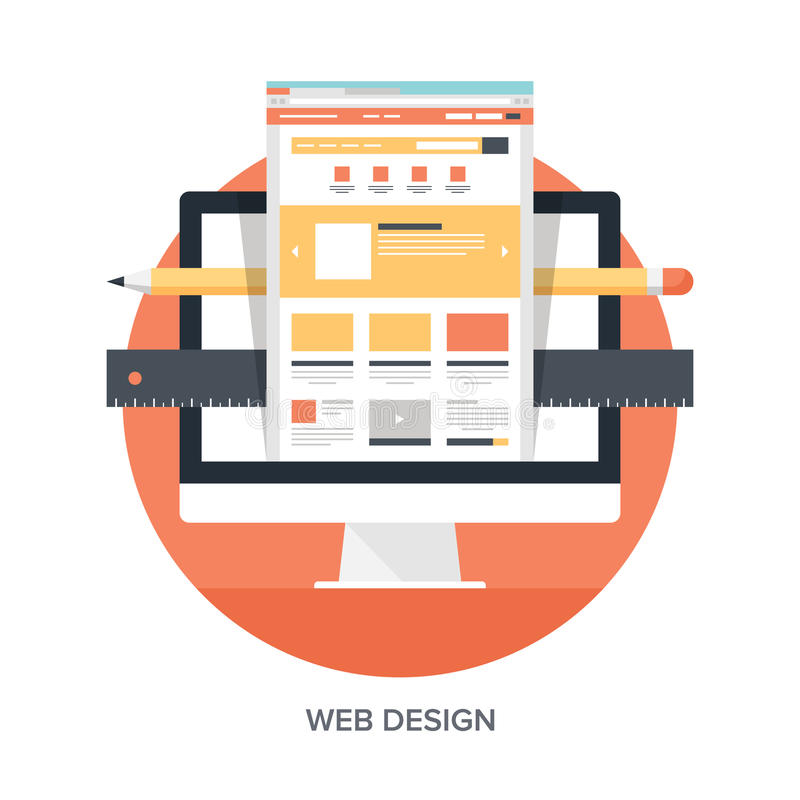 Web Design and Development royalty free illustration