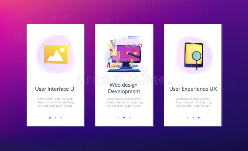 Web design development app interface template royalty free illustration
