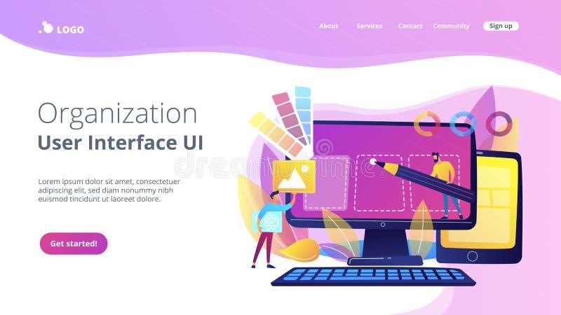 Web design development concept vector illustration stock illustration