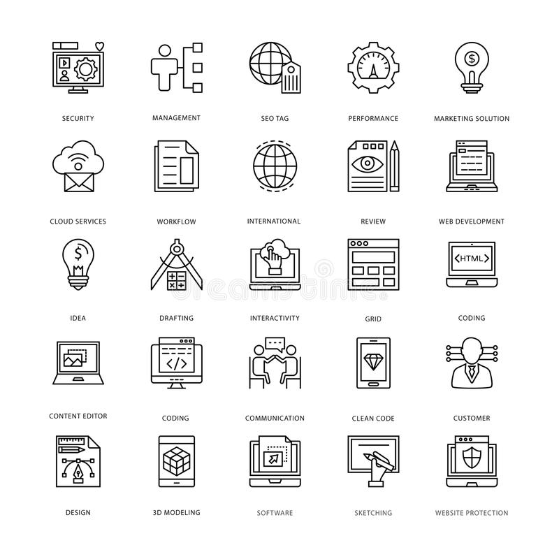 Web Design and Development Vector Icons 3. Set of Web Design and Development Vector Icons for your web design projects, tech publications or web topics in your vector illustration