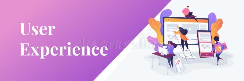 Web design development web banner concept. royalty free illustration