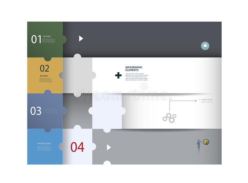 Web design di Infographics Modello moderno di puzzle illustrazione di stock