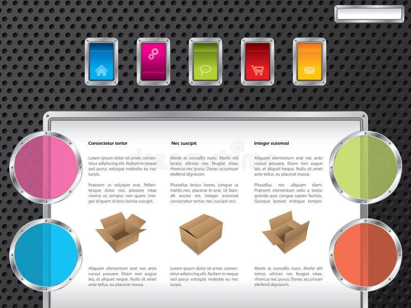 Web design di tecnologia con gli interruttori di colore illustrazione di stock
