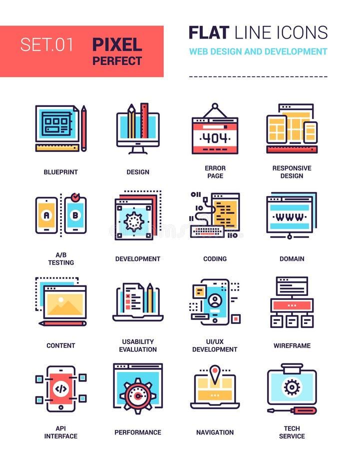 Web design e sviluppo royalty illustrazione gratis
