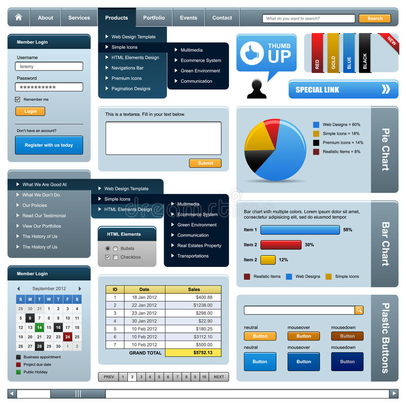 Web Design Element Frame Template vector illustration