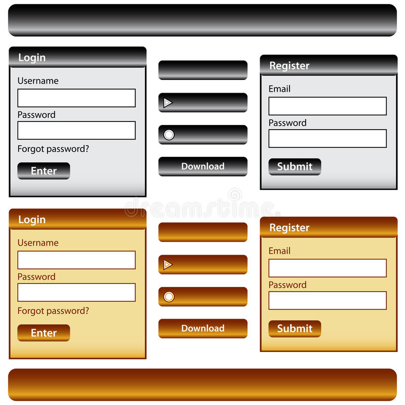Download Web design elements stock vector. Illustration of label - 17828143