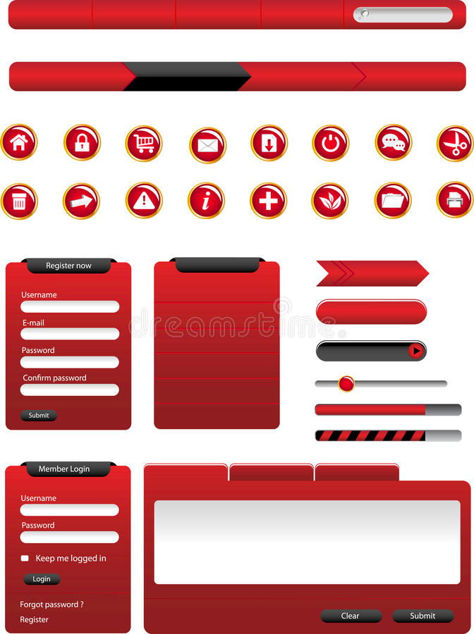 Web Design Elements Royalty Free Stock Photos