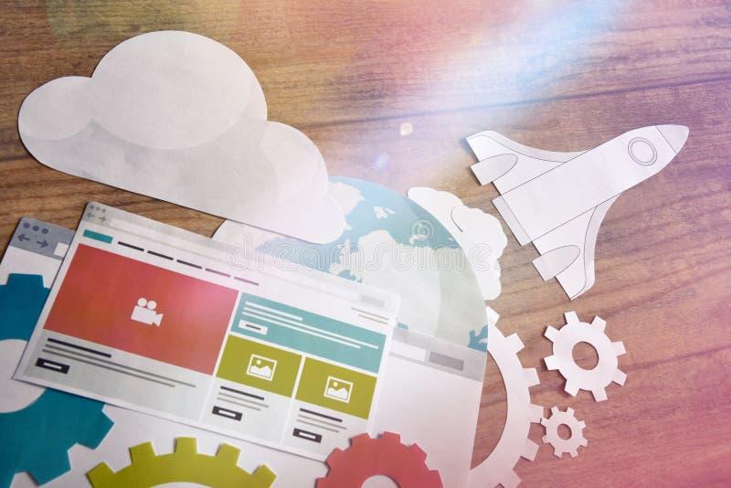 Web design et concept de développement photos stock