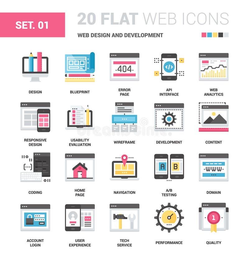 Web design et développement illustration libre de droits