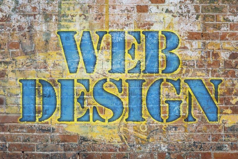 Web design graffiti royalty free stock photography