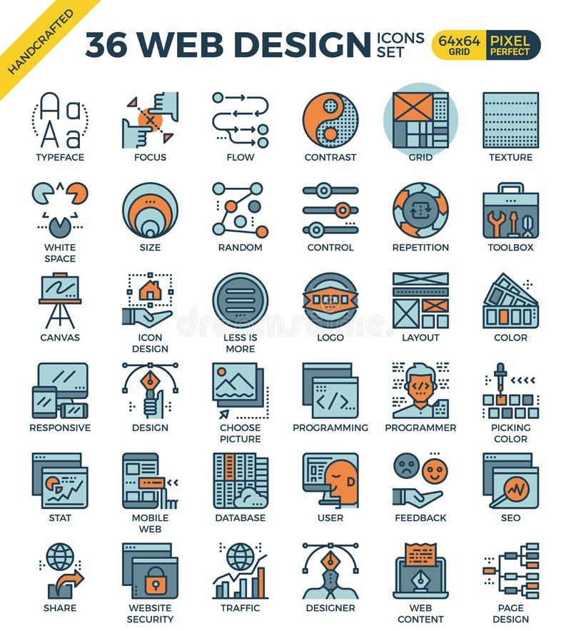 Web design icons vector illustration
