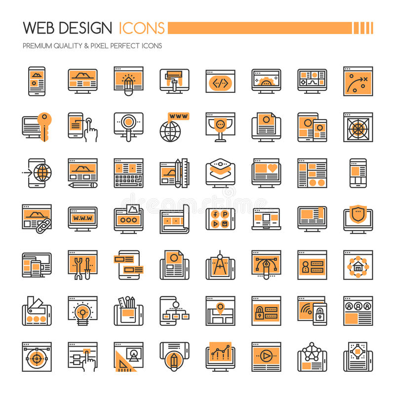 Web Design Icons royalty free illustration