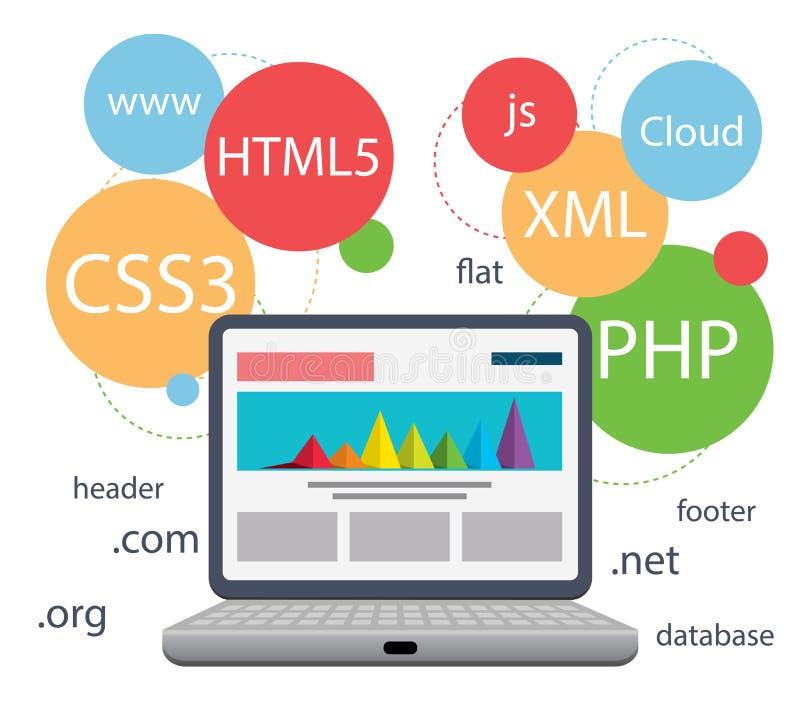Web design infographic vector illustration