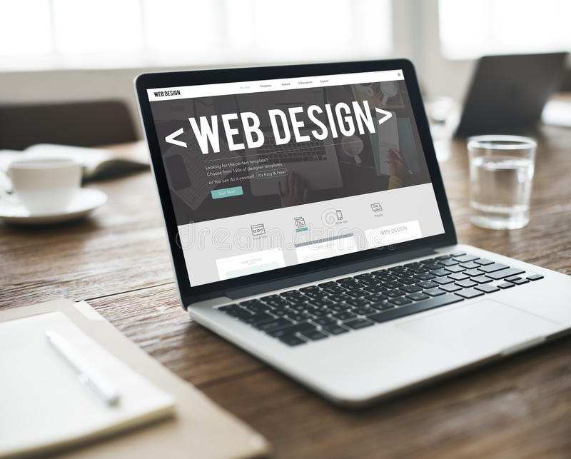 Web Design Internet Website Responsive Software Concept stock photo