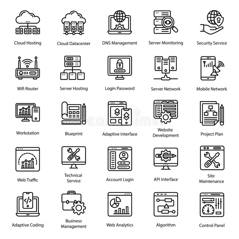 Web Design line Icons vector illustration