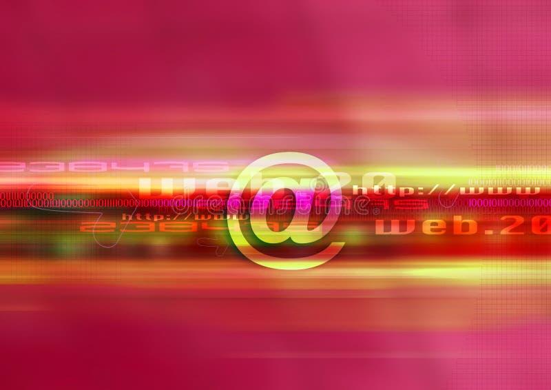 Web design mail red vector illustration