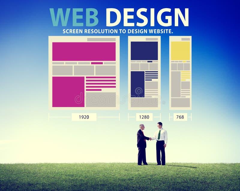 Web Design Network Website Ideas Media Information Concept Stock ...