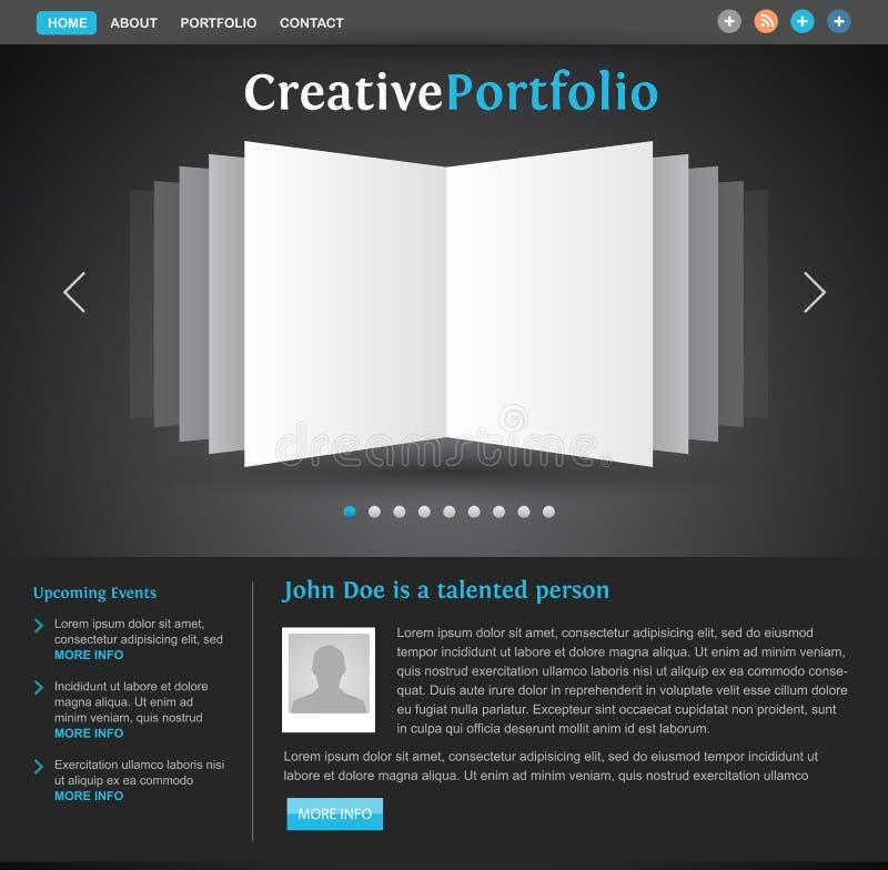 Web Design Portfolio Template Stock Photography